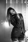 Het meisje in een jasje en borrels Royalty-vrije Stock Fotografie