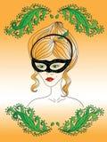 Het meisje in een masker Royalty-vrije Stock Afbeelding