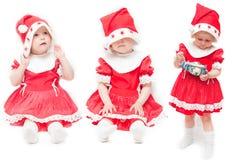 Het meisje in een rood GLB Stock Foto