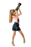 Het meisje - fotograaf Royalty-vrije Stock Fotografie