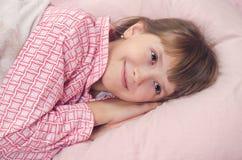 Het meisje gaat naar bed Royalty-vrije Stock Foto