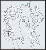 Het meisje gelijkend op een fee tale1 Royalty-vrije Stock Afbeelding