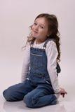 Het meisje glimlacht Stock Foto
