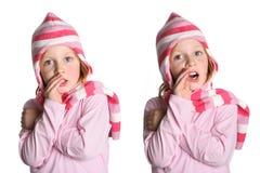 Het meisje heeft uit een geheim, en geheime IST Stock Foto