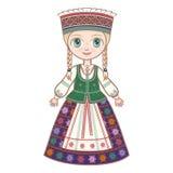 Het meisje in het Litouwse kostuum Royalty-vrije Stock Foto