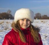 Het meisje in het rood Royalty-vrije Stock Afbeeldingen
