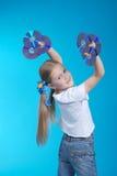 Het meisje houdt CD 6 Royalty-vrije Stock Afbeelding