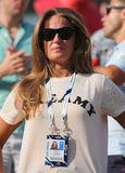 Het meisje Kim Sears van Andy Murray bij US Open 2014 in Billie Jean King National Tennis Center royalty-vrije stock fotografie