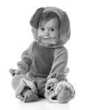 Het meisje kleedde zich als een puppy Stock Fotografie
