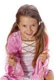 Het meisje kleedde zich als fee royalty-vrije stock foto's