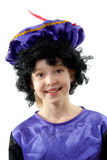 Het meisje kleedde zich als zwarte pete Royalty-vrije Stock Fotografie