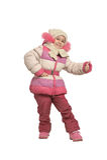 Het meisje kleedde zich in de winter Royalty-vrije Stock Afbeelding