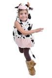 Het meisje kleedde zich in een schapenkostuum Royalty-vrije Stock Foto's