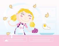 Het meisje kookt stock illustratie