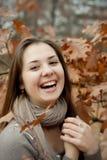 Het meisje lacht Royalty-vrije Stock Foto