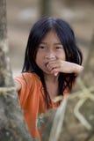 Het meisje Laos van Hmong van het portret stock afbeelding