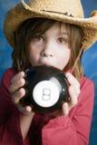 Het meisje leert haar toekomst royalty-vrije stock afbeelding