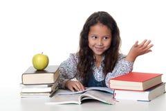 Het meisje leert voor de school Royalty-vrije Stock Afbeeldingen
