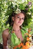 Het meisje met de slinger Royalty-vrije Stock Foto's