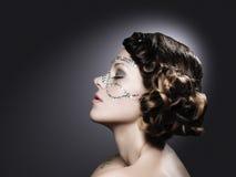 Het meisje met diamant maakt omhoog Royalty-vrije Stock Foto's