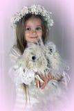 Het meisje met een hond Royalty-vrije Stock Afbeelding