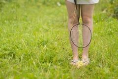 Het meisje met een racket Royalty-vrije Stock Foto