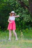 Het meisje met een riem Royalty-vrije Stock Afbeelding