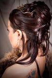 Het meisje met hairdress Stock Foto's
