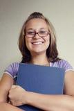 Het meisje met het boek Royalty-vrije Stock Afbeeldingen