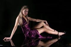 Het meisje met lange benen Royalty-vrije Stock Foto