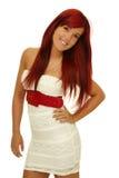 Het meisje met rood haar stock afbeeldingen