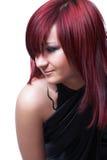 Het meisje met rood haar Stock Foto's