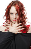 Het meisje met rood haar Royalty-vrije Stock Afbeelding
