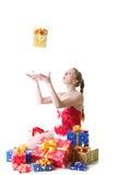 Het meisje met stelt voor royalty-vrije stock foto