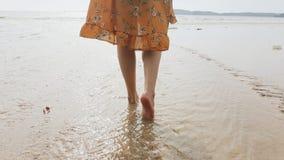 Het meisje op strand 2 stock fotografie