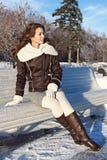 Het meisje in park Royalty-vrije Stock Fotografie