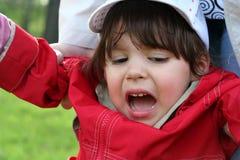 Het meisje schreeuwt royalty-vrije stock fotografie