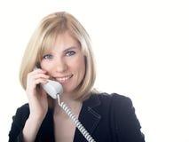 Het meisje spreekt op de telefoon royalty-vrije stock foto's