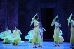 Het meisje stapte de belemmering-tweede handeling van de gebeurtenissen van dans drama-Shawan van het verleden Royalty-vrije Stock Foto