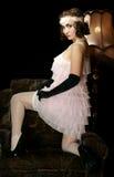 Het meisje in stijl 30 Stock Foto