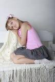 Het meisje in sundress Royalty-vrije Stock Afbeelding