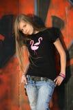 Het meisje - tiener Royalty-vrije Stock Foto's