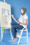 Het meisje trekt vervenbeeld Stock Afbeeldingen