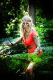 Het meisje van Amazonië Stock Afbeeldingen