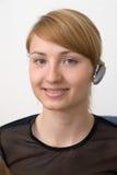 Het meisje van Bluetooth Stock Fotografie