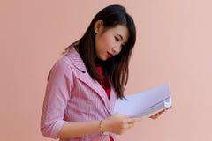 Het meisje van bureauazië Stock Foto