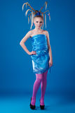 Het meisje van Carnaval Royalty-vrije Stock Afbeeldingen