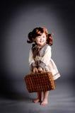 Het meisje van China van jaren '20 met lugga Stock Afbeeldingen