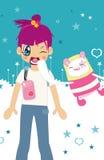 Het meisje van Cutie vector illustratie