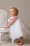 Het meisje van de één éénjarigebaby Royalty-vrije Stock Afbeeldingen